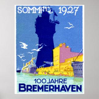 1927 Bremerhaven Germany Poster