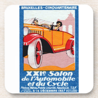 1927 Brussels Automotive Exposition Drink Coaster