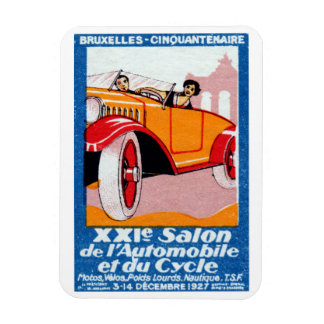 1927 Brussels Automotive Exposition Rectangular Photo Magnet