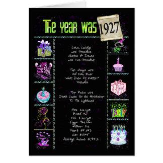 1927 datos divertidos del cumpleaños tarjeta de felicitación