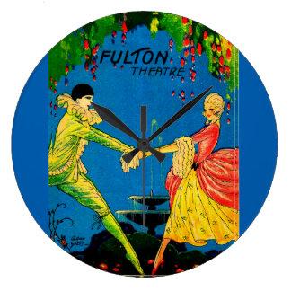 1927 Fulton Theatre program cover art Large Clock