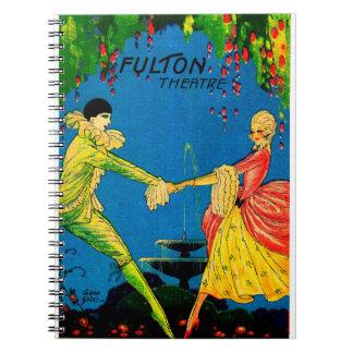 1927 Fulton Theatre program cover art Notebook