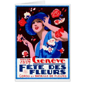 1927 Geneva Flower Show Poster Card
