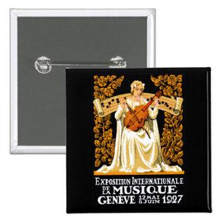 1927 International Music Festival 2 Inch Square Button