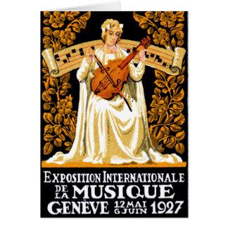 1927 International Music Festival Card