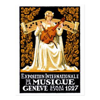 1927 International Music Festival Postcard