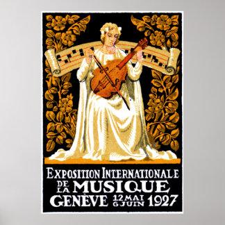 1927 International Music Festival Poster