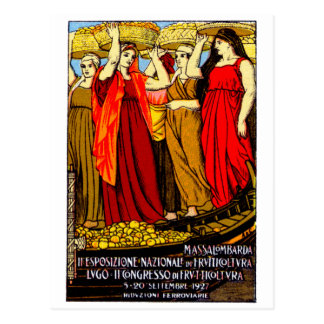 1927 Italian Fruit Growers Poster Postcard