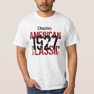 1927 o cuaesquiera regalos de cumpleaños clásicos playera