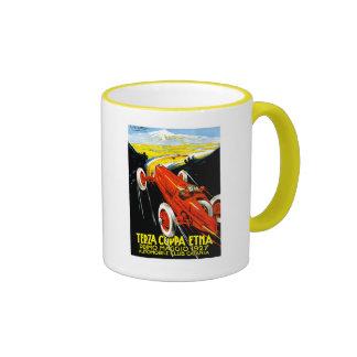 1927 Terza Coppa Etna Auto Road Rally Ad Ringer Mug