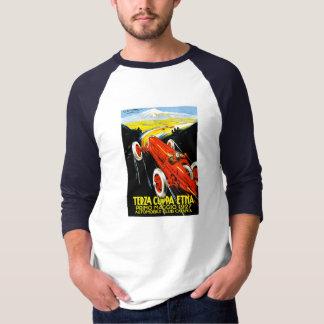 1927 Terza Coppa Etna Auto Road Rally Ad T Shirt
