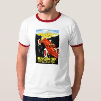 1927 Terza Coppa Etna Auto Road Rally Ad Tee Shirt