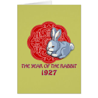 1927 The Year of the Rabbit Gifts Greeting Card