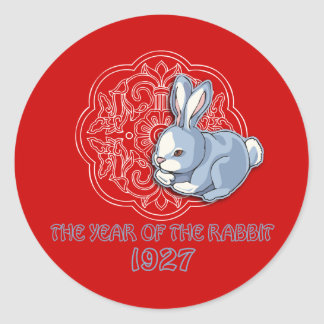 1927 The Year of the Rabbit Gifts Round Sticker