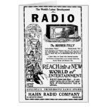 1927 vintage radio advertisement Card