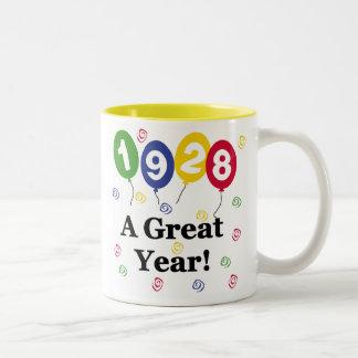 1928 A Great Year Birthday Two-Tone Coffee Mug