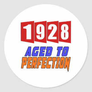 1928 Aged To Perfection Classic Round Sticker