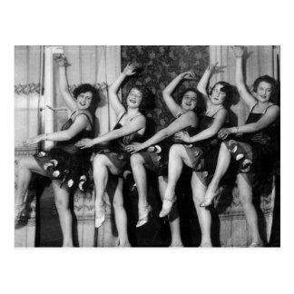 1928 bailarines tarjeta postal