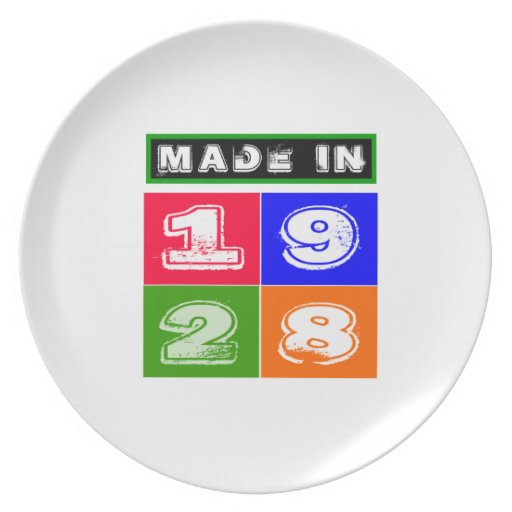 1928 Birthday Designs Party Plate