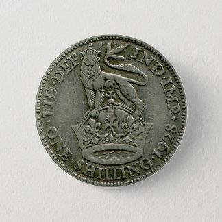 1928 British shilling button