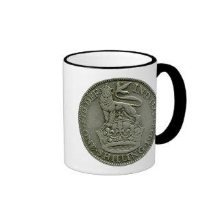 1928 British shilling mug