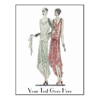 1928 Flapper Fashion Postcard