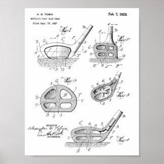1928 Golf Club Head Design Patent Art Print