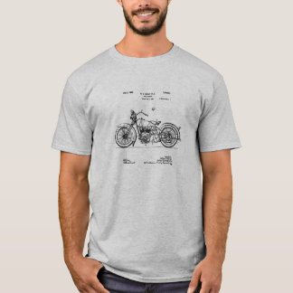 1928 Harley Cycle Patent Image T-Shirt