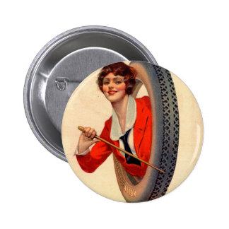1928 Kelly-Springfields Tire mascot Lotta Miles 2 Inch Round Button