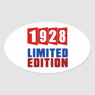 1928 Limited Edition Oval Sticker