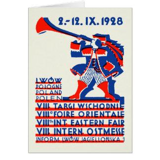 1928 Lwow Eastern International Fair Greeting Card