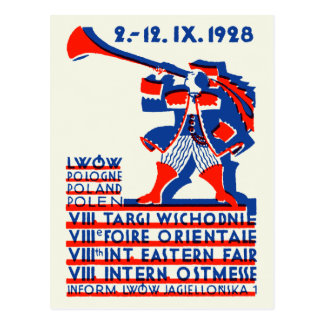 1928 Lwow Eastern International Fair Postcard