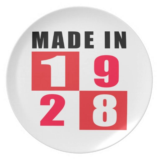 1928 made in designs plates