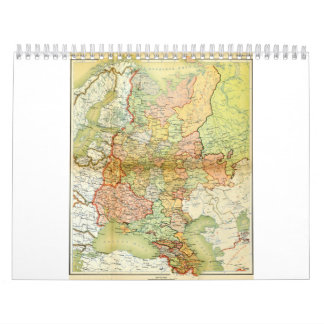 1928 Map of Old Soviet Union USSR Russia Wall Calendar
