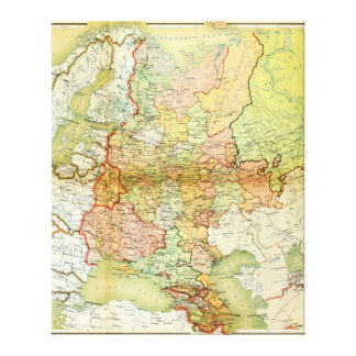 1928 Map of Old Soviet Union USSR Russia Stretched Canvas Prints