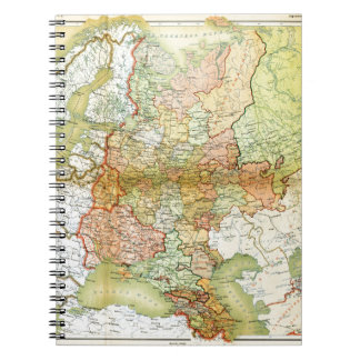 1928 Map of Old Soviet Union USSR Russia Notebook