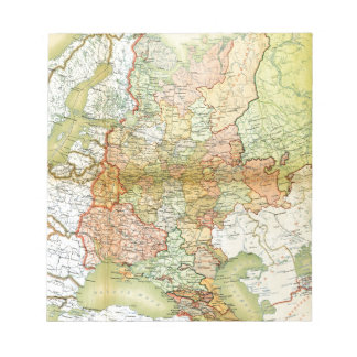 1928 Map of Old Soviet Union USSR Russia Notepad
