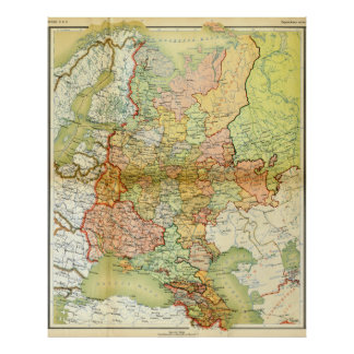 1928 Map of Old Soviet Union USSR Russia Poster