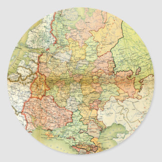 1928 Map of Old Soviet Union USSR Russia Classic Round Sticker