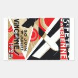 1928 Paris Air Show Rectangle Stickers