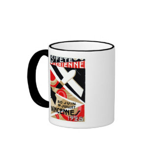 1928 Paris Air Show Ringer Mug