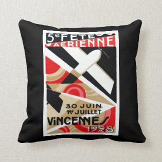 1928 Paris Air Show Throw Pillow