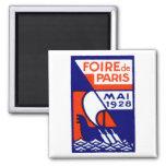 1928 Paris France Fair Poster Fridge Magnet