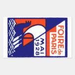 1928 Paris France Fair Poster Sticker