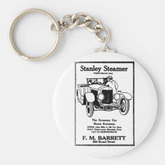 1928 Stanley Steamer Ad Keychain