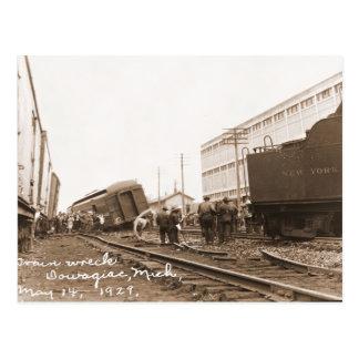 1928 Train Wreck Postcard