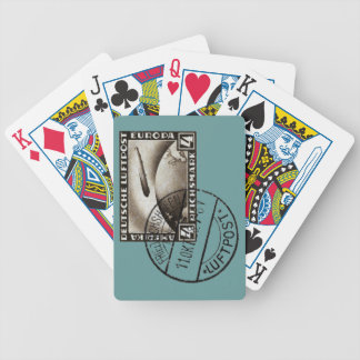 1928 Zeppelin Airmail Bicycle Playing Cards