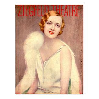 1928 Ziegfeld Theatre program cover Marilyn Miller Postcard