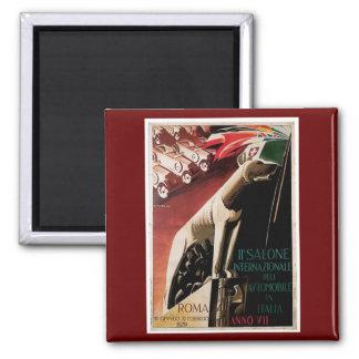 1929 - 11th Salone Internazional Dell Automobile 2 Inch Square Magnet