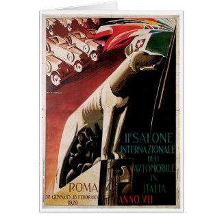 1929 - 11th Salone Internazional Dell Automobile Card